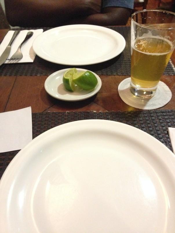 Dinner with Lenildo.  A first:  Tuna on my pizza.  It was kinda tasty.