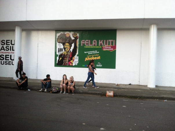 Fela on side of Afro-Brasilian Museum